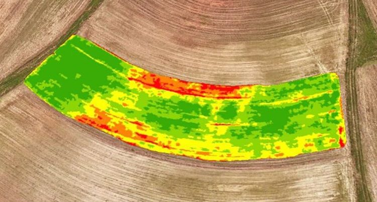 drone mapping fields with infrared